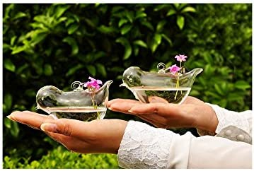 Set of 2 Different Size Beautiful Shape 35% OFF Hand Large-scale sale Bird Blown Ha Glass