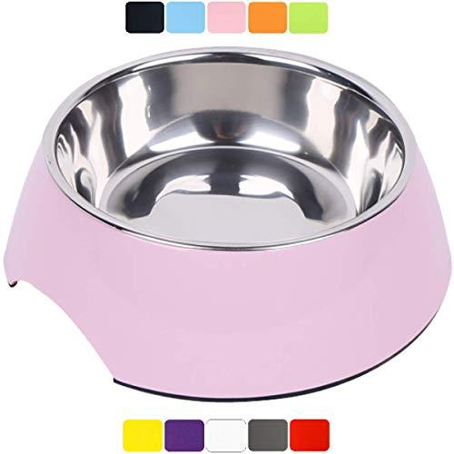 DDOXX Fressnapf, rutschfest | viele Farben & Größen | für kleine & große Hunde | Futter-Napf Katze | Hunde-Napf Hund | Katzen-Napf Edelstahl-Napf | Melamin-Napf | Rosa Pink, 700 ml