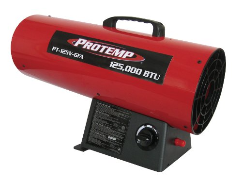 Pro-Temp Propane Heater, Red/Black