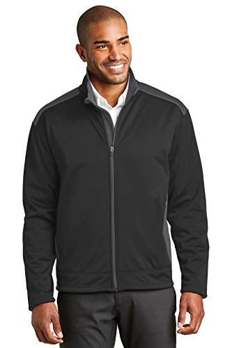 Port Authority® Two-Tone Soft Shell Jacket. J794 Black/Graphite 3XL