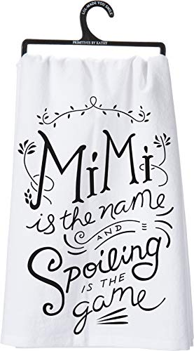 Primitives by Kathy Mimi Towel Bundle - Mimi is The Name Spoiling and Mimi's Kitchen Where Memories