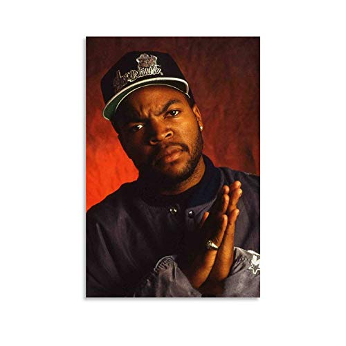 Ice Cube Hip Hop Rapper Singer Motivatlonal Portrait Retro Cool Poster , Wall Art Decoration Frame Posters And Picture , Commemorative Gift for Men And Women's ,bedroom Infamous Popular Cover Photo Po