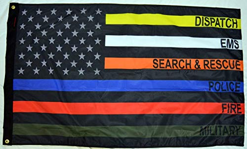 Forever Wave 3x5' USA Subdued First Responders Flag