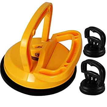 Kaisiking Yellow Suction Cup Dent Puller Handle Lifter Car Dent Puller Remover for Car Dent Repair Glass,Tiles Mirror Granite Lifting and Objects Moving