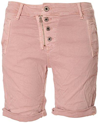 Basic.de Bermuda-Shorts 4-Knopf mit Reißverschluss Rosa XL