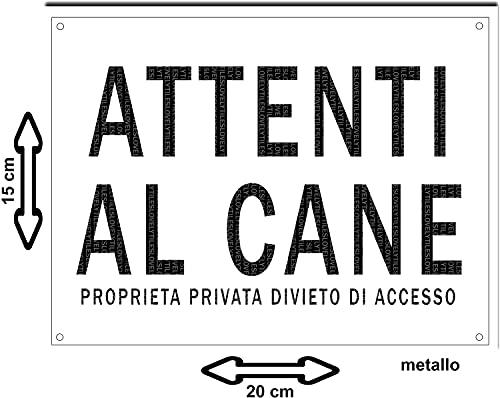 LOVELYTILES ATTENTI al Cane PROPRIETA PRIVATA DIVIETO di Accesso Targa Cartello Segnale INSEGNA