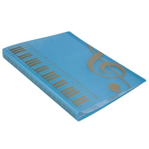 ROSENICE Musik Blatt Datei Papier Dokumente Speicher Ordner 40 Taschen Halter (blau)