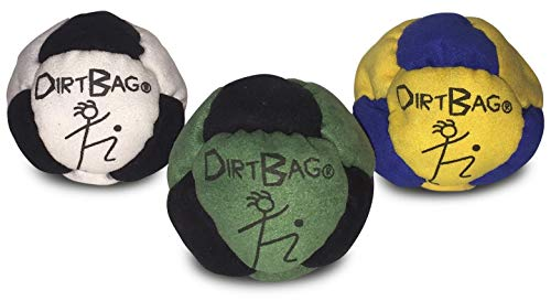 World Footbag Dirtbag Hacky Sack Fußsack, Dirtbag Classic, 3er-Pack