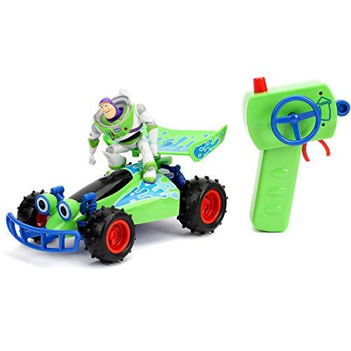Jada Disney Pixar Toy Story 4 Turbo Buggy W/Buzz Lightyear Radio Control Vehicle, 2.4 Ghz, 1: 24, Multi