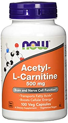 Now Foods Acetyl L-Carnitine, 500mg, 100 Vegetarian Capsules