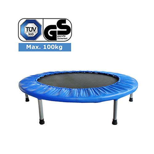 FA Sports FlyJump Fit, Mini Trampolino Elastico Fitness, per Interni, Ø 102 cm, Nero e Blu