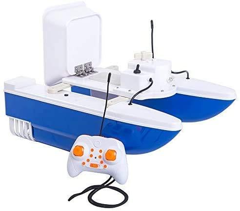 J & J Pesci elettrici Bait Boat Telecomando Remote Finder Finder Dual Motors, 200m Senza interferenze, Il Segnale è più Stabile sotto Il Chiaro Ambiente