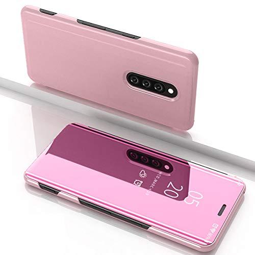 per One plus7 pro Custodia, Specchio glitterato Clear View Custodia protettiva per telefono(Dimensione display 6.67pollice)