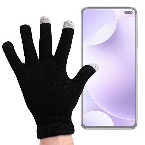 DURAGADGET Guantes Negros para Pantalla Táctil Compatible con Smartphone REDMI K30 4G, REDMI K30 5G, Nokia 2.3, Motorola One Hyper - Talla Mediana - ¡Ideales para El Invierno!