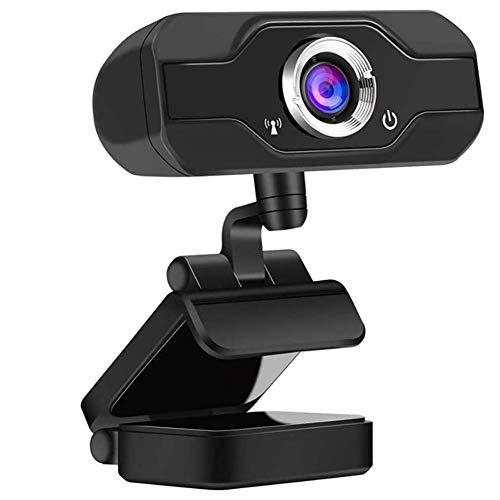 HD 1080P Webcam Desktop-Laptop USB Eingebautes Mikrofon Für Videoanrufe Und Konferenzen Datenschutz Shutter PC Außenkamera Für Live-Streaming Tragbarer Desktop-Laptop Home Office,Schwarz,A