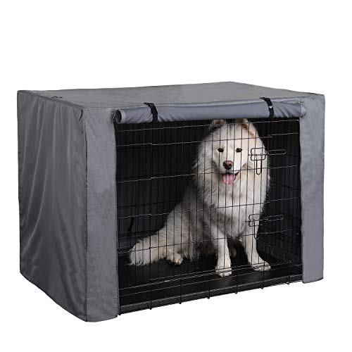 PINGKO Durable Dog Crate Cover-Water Resistant Breathing,Lightweight 600D Polyester with PU Coating Cover,Fits for 36 42 48 Inches Wire Pet Crate Kennel Covers (36 Inch)