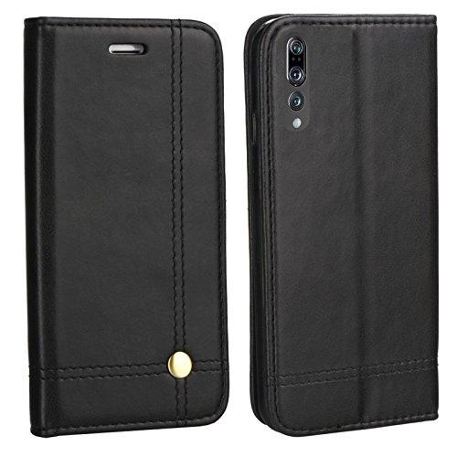MOX Edle Buch Klapp Tasche SCHWARZ Flip Book Hülle Schutz Hülle Etui CLT-L29 passend für Huawei P20 Pro Dual SIM