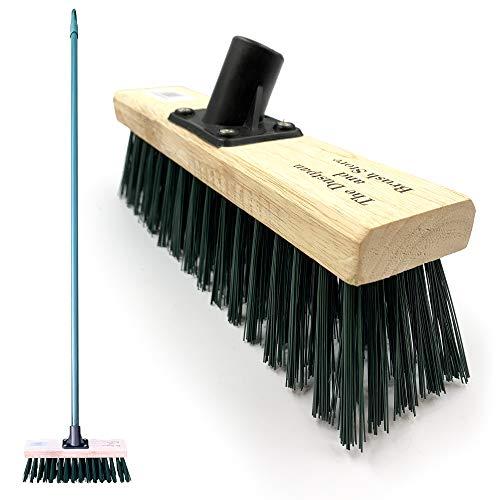 11.5' Sweeping Brush Outdoor Broom − Garden Brush Heavy Duty Outdoor Yard...