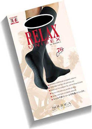 Solidea Relax 70 Gambaletto Unisex, Nero, Taglia 4 - 10 ml