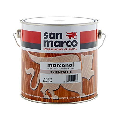 San Marco MARCONOL Orientalite Pittura opaca di fondo per legno, colore: Bianco, size: 0,5 lt