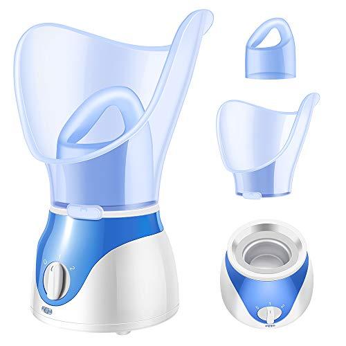 Facial Steamer, La'prado 2020 New Nano Ionic Face Facial Steamer Warm Mist Humidifier Atomizer Humidifier Moisturizing Face Spa Steamer (Blue)