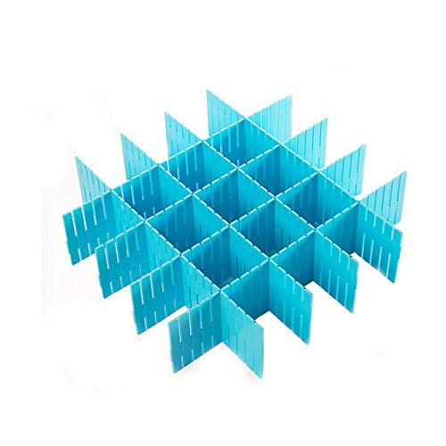 ZLYPSW Lote Separador de cajones ajustable de plástico DIY Divisor de tablilla Hogar Herramienta de ahorro de espacio Ropa interior Calcetines Organizador de almacenamiento