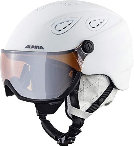 ALPINA GRAP VISOR 2.0 HM Skihelm, Unisex– Erwachsene, white matt, 54-57