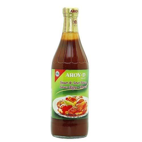 Aroy-D - Salsa Agridulce - Sweet & Sour Sauce - Ideal para una Comida Exótica- Producto Thailandes - 190 ml