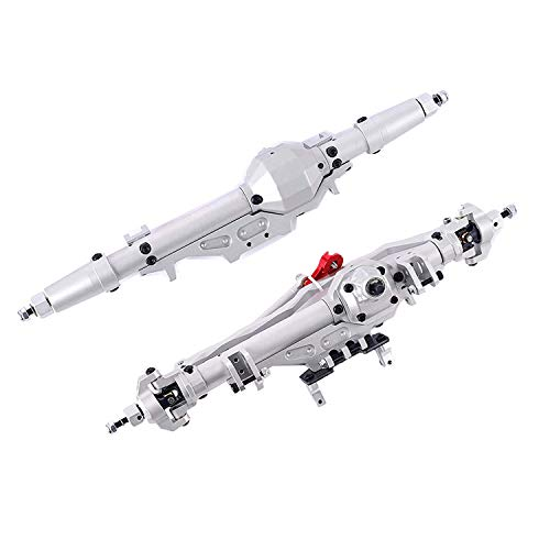 RZXYL Aluminum Front and Rear Axle for 1/10 Axial Wraith 90018 90048 90053 90018 90020 90045 90056 RR10 RC Model Crawler Car (Silver)