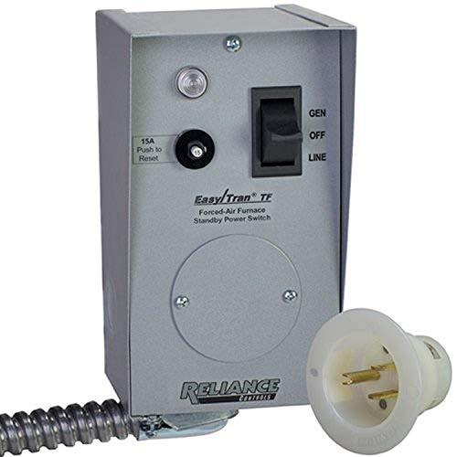 Reliance Controls TF201W Easy Tran Transfer Switch, 2500 Watts
