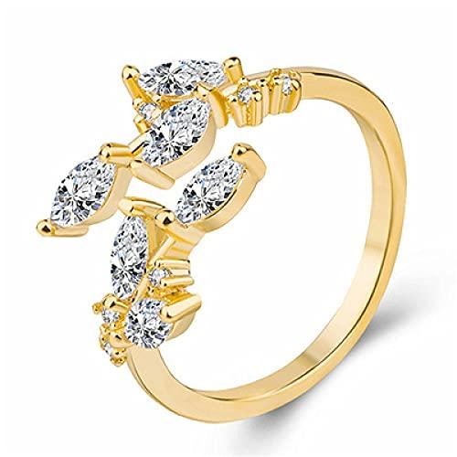 Anillo abierto azul de cristal sirena burbuja anillos abiertos para las mujeres joyería de moda creativa 4