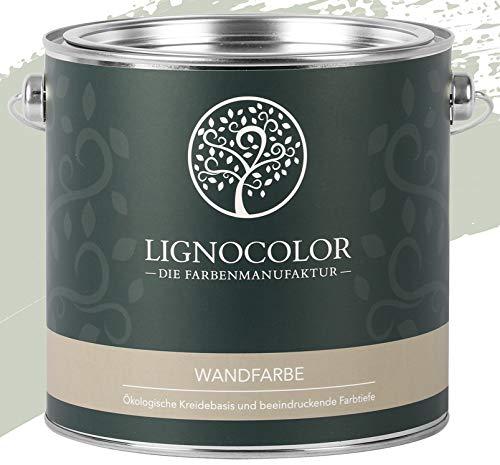 Lignocolor Wandfarbe Innenfarbe Deckenfarbe Kreidefarbe edelmatt 2,5 L (Sage)