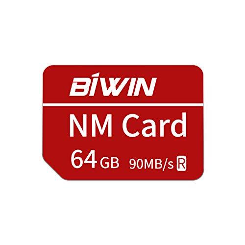 Huawei NanoMemory Memory Card 64GB NM Card NM-Speicherkarte, bis zu 90 MB/s, kompatibel mit Huawei P30 / P30 Pro/Mate X/Mate Xs/Mate 40/Mate 40 Pro