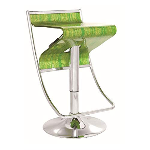 XQAQX kruk mode bar reception cafe stoel Europese barkruk hoge voetenlift draaistoel acryl transparant stoel stool