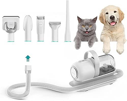 Neabot ペット用 バリカン 犬 猫ペット美容器 グルーミングセット クリーナー 5 in 1 トリミング 電動バリカン アタッチメント豊富 ヘアクリッパー ヘアブラシ P1 Pro