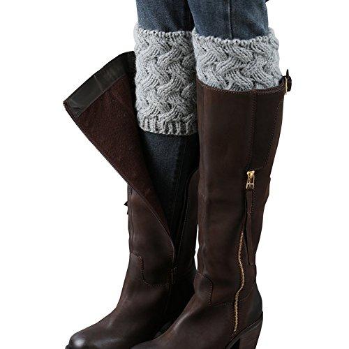 Vellette Bein Stulpen Damen | warme Beinstulpen Strick-Stulpe Beinwarmer Stulpen Legwarmer Grobstrickstulpen Damen Madchen 1 Paar