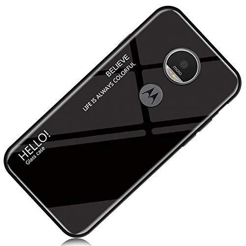 Yoota Funda Motorola Moto G6 Plus, Gradiente Tapa Trasera de Cristal Templado...