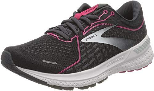 Brooks Adrenaline GTS 21, Zapatillas para Correr Mujer, Black Raspberrysorbet Ebony, 40 EU