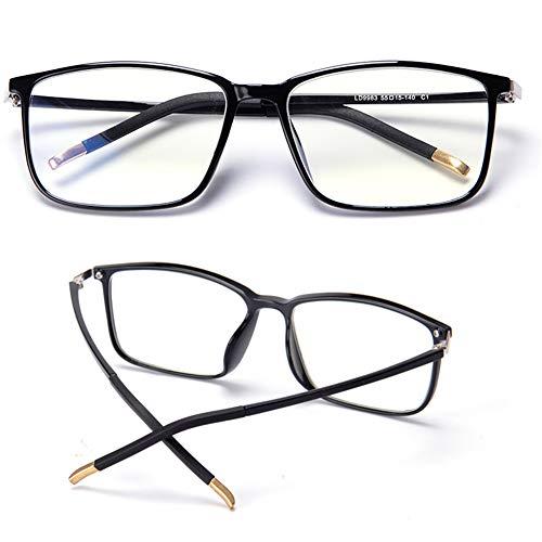 CYY Gafas de Lectura Unisex con Filtro Bloqueo de Luz Azul,Antifatiga/Protección UV/Antirreflejos,Gafas para Presbicia Cuadrada de Moda Empollón para Hombres y Mujeres(1.0,2.0,3.0)