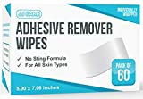"""JJ CARE Non Sting Adhesive Remover Wipes 6""""x7"""" [Pack of 60] Adhesive Barrier Wipes - Large Stoma Wipes - Medical Adhesive Remover Wipes - Skin Barrier Wipes for Ostomy"""