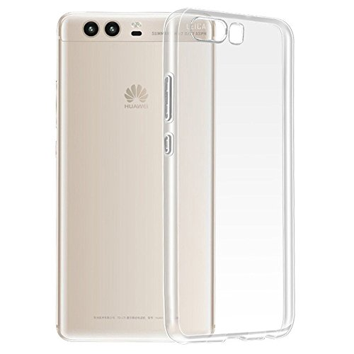 REY Funda Carcasa Gel Transparente para Huawei P10, Ultra Fina 0,33mm, Silicona TPU de Alta Resistencia y Flexibilidad