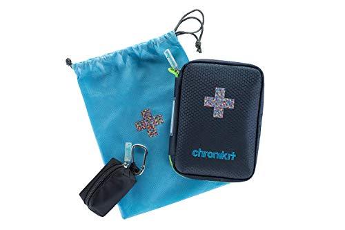 Notfallset für Asthmatiker und Allergiker inkl. Asthmaspray Schutztasche mit Karabinerhaken, Zugbeutel, Anleitung & rechtlicher Absicherung für Ersthelfer | Das Asthma Starterkit von chronikit