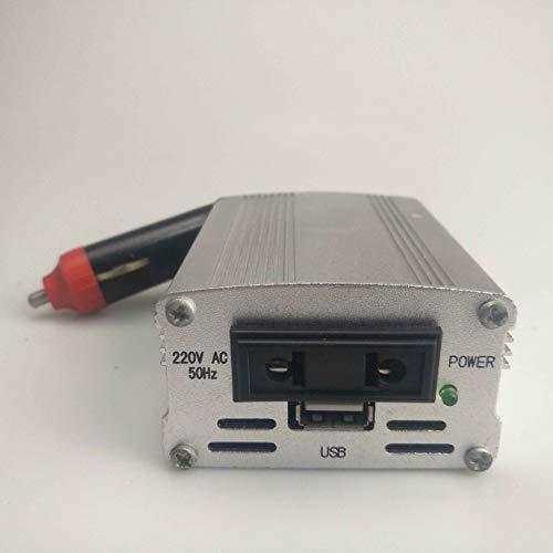 Kongqiabona-UK Adaptador de inversor de Corriente XYA200 700W Convertidor de Potencia de Color Plateado Convertidor de Coche Convertidor de Corriente de Coche de Entrada de 12V Adaptador de Cargador