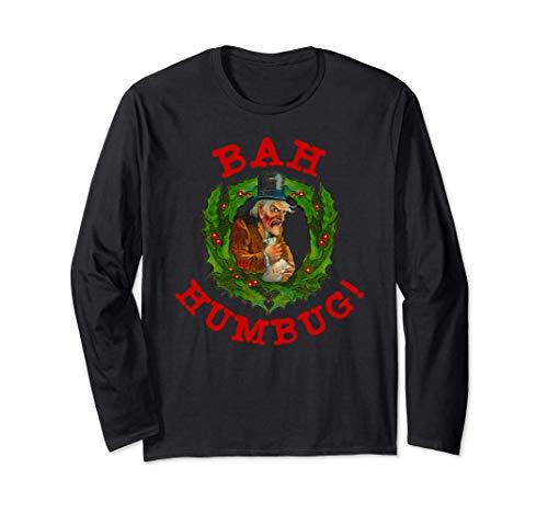 Brutta ghirlanda natalizia Scrooge Bah Humbug Christmas Maglia a Manica