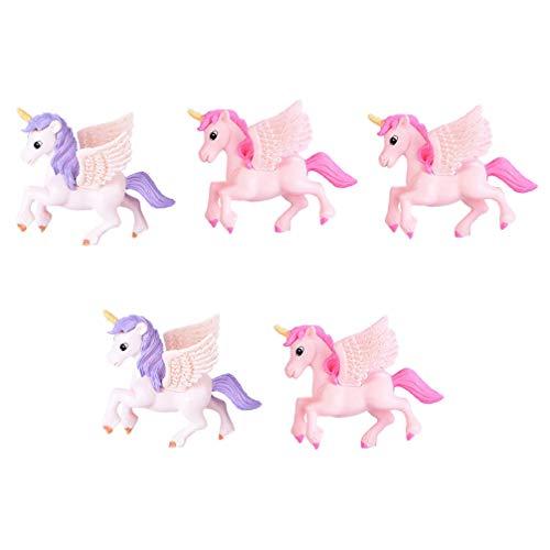 TOYANDONA 5 Piezas Miniatura Unicornio Figurien Musgo Escultura de Paisaje Decoración de...