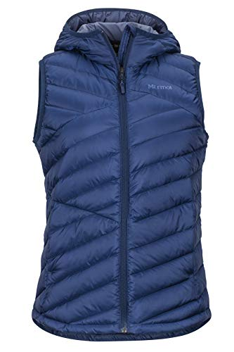 Marmot Highlander Hoody Vest, ultralicht donsvest voor dames, 700 Fill-Power, warm outdoorvest, waterafstotend, winddicht