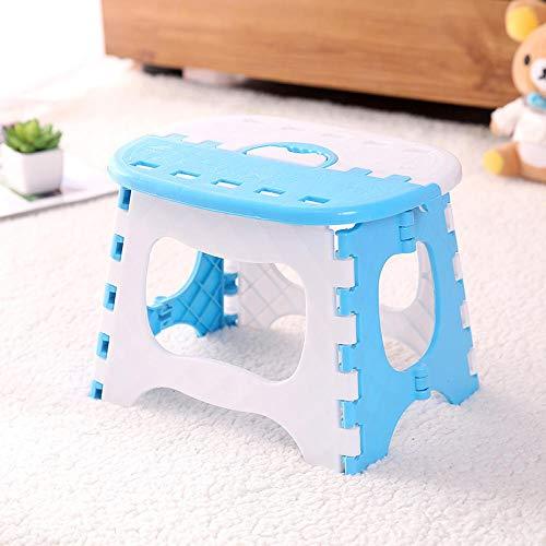 N_A Verdickter Kunststoff-Klappstuhl für Kinder und Erwachsene, blau