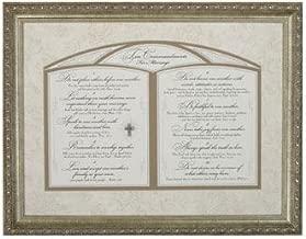Carpentree 22440 Ten Commandments for Marriage Framed Art