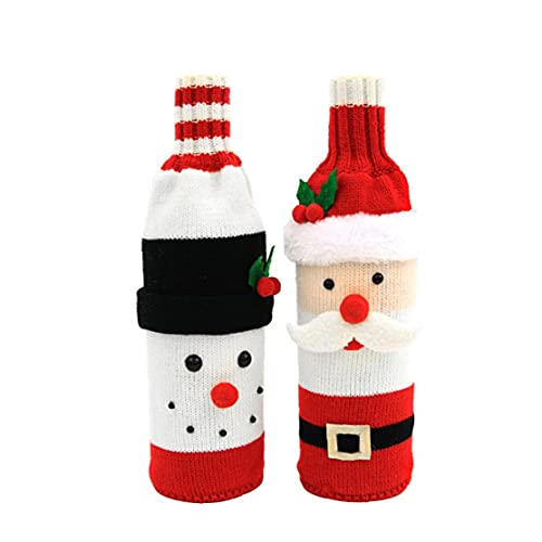 Suéter Vino de Navidad Cubiertas de Botellas de Vino suéter Cubierta de Santa muñeco de Nieve y el Vino Tinto Botella del Bolso de la Fiesta del suéter de Navidad Decoración de Navidad