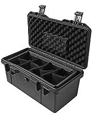 Gereedschapskist Black Tool Box Beschermende Box Verdikking Multifunctionele huishouden Tool Storage Box Portable Toolbox for Gereedschapdelen en Instrument Storage Gereedschap opbergdoos Tool